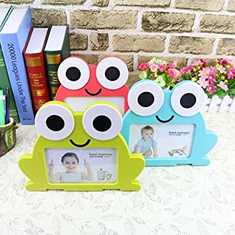 Personalized Creative Cartoon Frame Frog Photo Frame Pendulum Photo Frame Baby Children'S Digital Photo Frame Set Of Three Ideal Gift , a set of 3