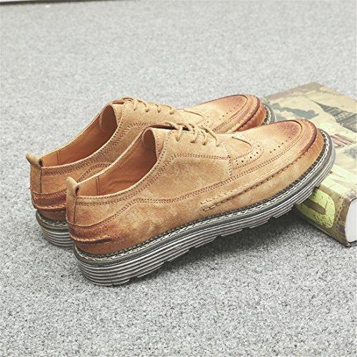HENGJIA Herren Freizeitliche Arbeitsschuhe Klassischer Schnürhalbschuh Oxford-Schuh 1863 Sandfarbe