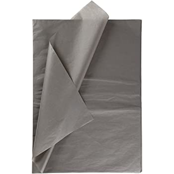 35 x 45cm SILVER GREY Tissue Wrapping Paper 18GSM Sheets