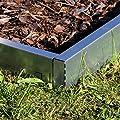 10x NTA Rasenkanten breit Metall 14cm hoch Beeteinfassung Rasenkante Mähkante von NTA auf Du und dein Garten