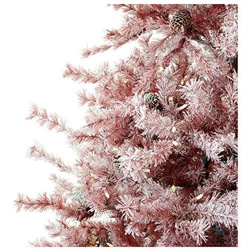Albero Di Natale 400 Cm.Holyart Albero Di Natale 230 Cm V Burgundy Brinato E Pigne 400 Luci