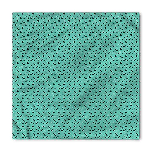 Animal Print Bandana, Dalmatian Dog Fur Dots, Unisex Head and Neck Tie,Unisex Bandana Head and Neck Tie Neckerchief Headdress Silk-Like 100% Polyester(size:M)