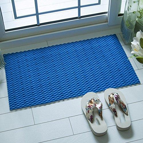 Tapis de bain de juillet Baignoire Salle de douche Ottomans Massage Toilette Tapis étanche (Couleur : Blue)