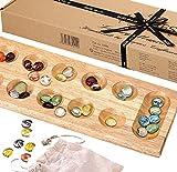 Kalaha Edelsteinspiel - Mancala - Luxus kahala Mancala Board 40cm - Holzspiele - Jaques von London