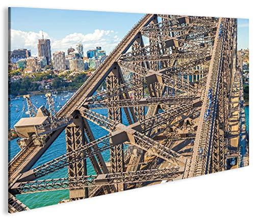 islandburner Bild Bilder auf Leinwand Harbour Bridge Sydney Australien 1p XXL Poster Leinwandbild Wandbild Dekoartikel Wohnzimmer Marke (Sydney Harbour Bridge Poster)