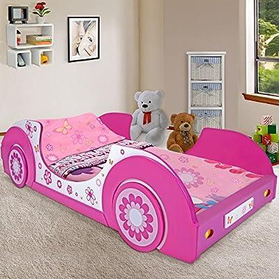 Deuba Butterfly - Cama con forma de coche, color rosa y blanco from Deuba e.K.