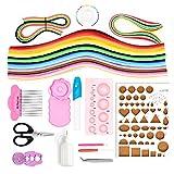 BITEYI Papier Quilling Set mit 12 Quilling Werkzeuge und Elektrischer Quilling Stift,36 Farben 960 Streifen Quilling Papier (Papierbreite 3mm)