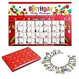 Adventskalender für Kinder,DIY Mode Geburtstag Adventskalender Charm Armband Geschenke für Mädchen