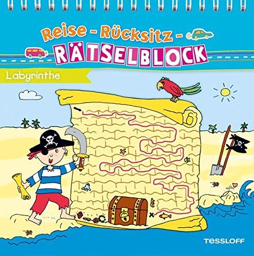 Preisvergleich Produktbild Reise-Rücksitz-Rätselblock Labyrinthe (Malbücher und -blöcke)