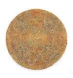 Artisanal Set de Table Bali Rond en rotin tressé. Décoration de Table Ethnique Chic.