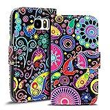 Verco Handyhülle Galaxy S7 Edge Muster, Motiv Hülle für Samsung Galaxy S7 Edge Book Case Flip Cover - Design 4