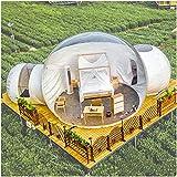 ZYJFP Tente Transparente Gonflable, Extérieur Double Tunnel Backyard Tente Une Seule...