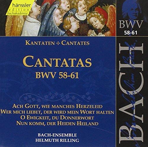 Edition Bachakademie Vol. 19 (Geistliche Kantaten BWV 58-61)