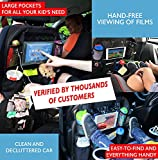 """INASMILE Kick Mats Car Organiser Back Seat & Car Organiser For Kids, Car Back Seat Storage Organizer with 12 Pockets - Large Touch Screen 10.1"""" Backseat Car Organizer for Kids , Waterproof, Baby Carriage and Auto Back Seat Covers Dual-Use Bag"""
