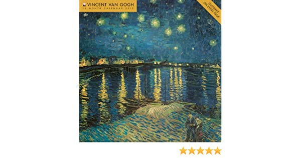 vincent van gogh 2012 wall calendar glittered on every page