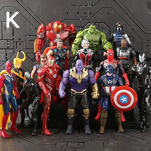 RosewineC Super Hero Vinyl Figure Avengers Exclusive-Iron Man、Hulk、Thor、Spider-Man、Captain America( K)