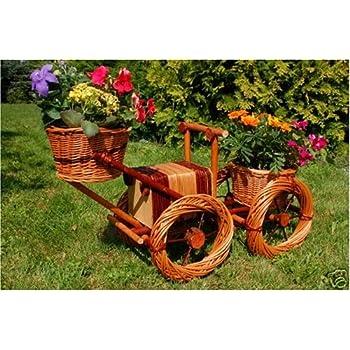 Fahrrad motorrad aus korbgeflecht 70 cm rattan weidenk rbe bepflanzen m glich fahrrad - Gartendeko fahrrad ...