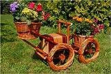 Bagger, Traktor aus Korbgeflecht, 80cm, Rattan, Weidenkörbe, bepflanzen möglich, Pflanzkorb, Blumentopf, Blumentöpfe, Pflanzkübel, Pflanztrog, Pflanzgefäß, Pflanzschale, Pflanzkasten, Übertopf, Pflanzkarre