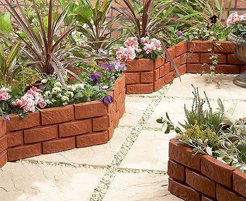 Rasenkanten zur ordentlichen Abgrenzung von Rasen und Blumenbetten, Ziegelstein-Optik - 1169 (Brick Rasenkanten)