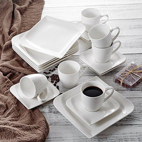 vancasso Cloris Porzellan Kaffeeservice, 18 tlg. Kaffee Set, Beinhaltet Kaffeetassen, Untertassen...