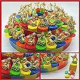 Torta di vari colori in cartoncino rigido lucido decorata con ferri di cavallo e farfalle colorate portafortuna compleanno ragazza da 15, 25 o 40 fette(40 fette con confetti colori misti)