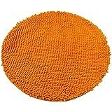 Luxbon Alfombra Lisa Redonda Devorativa para Salón Sala Dormitorio Baño Naranja 60x60cm(varias colores)