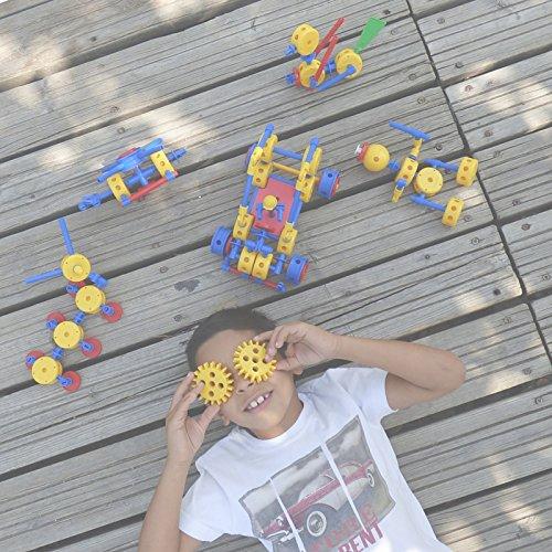 BROKS-Mad-Race-Juego-de-construccin-con-118-piezas-encajables-incluidos-engranajes-de-alta-calidad-para-nios-y-nias-de-4-a-9-aos