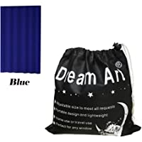 Dream Art Anywhere Portable Blackout Curtain/Adjustable Blackout Shades/Temporary Blackout Blinds with Suction Cups for Nursery,Children Kids Bedroom or Travel Use,Blue,1 pc W52xL72Inch(132X183cm)