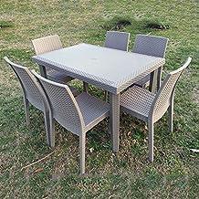 Tavoli Sedie Plastica Marca.Amazon It Tavolo Rattan Dimaplast