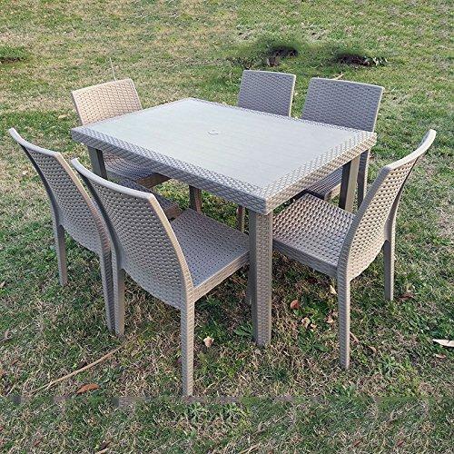 Acquisto Tavoli Da Giardino.Set Da Giardino Tavolo Con 4 Sedie Aria Tortora Acquisti Online