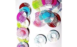D Duze Art & Crafts DIY Handmade Miniature Straw Hats for Dolls (Multicoloured)