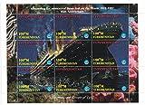 Timbres pour collectionneurs-Perforfated Stamp Sheet doté du Titanic/International événements 1997/motif 85Anniversary/dessin du Titanic/Turkménistan...