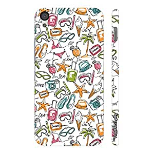 One Plus X Chilling by the Beach designer mobile hard shell case by Enthopia