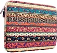 Plemo Laptophülle, Bohème Stil Canvas-Gewebe Hülle Sleeve Tasche für 27,9-29,5 cm (11-11,6 Zoll)