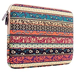 Plemo 14 Inches Bohemian Style Laptop Sleeve Case Bag for MacBook / Surface Book / Notebook Computer