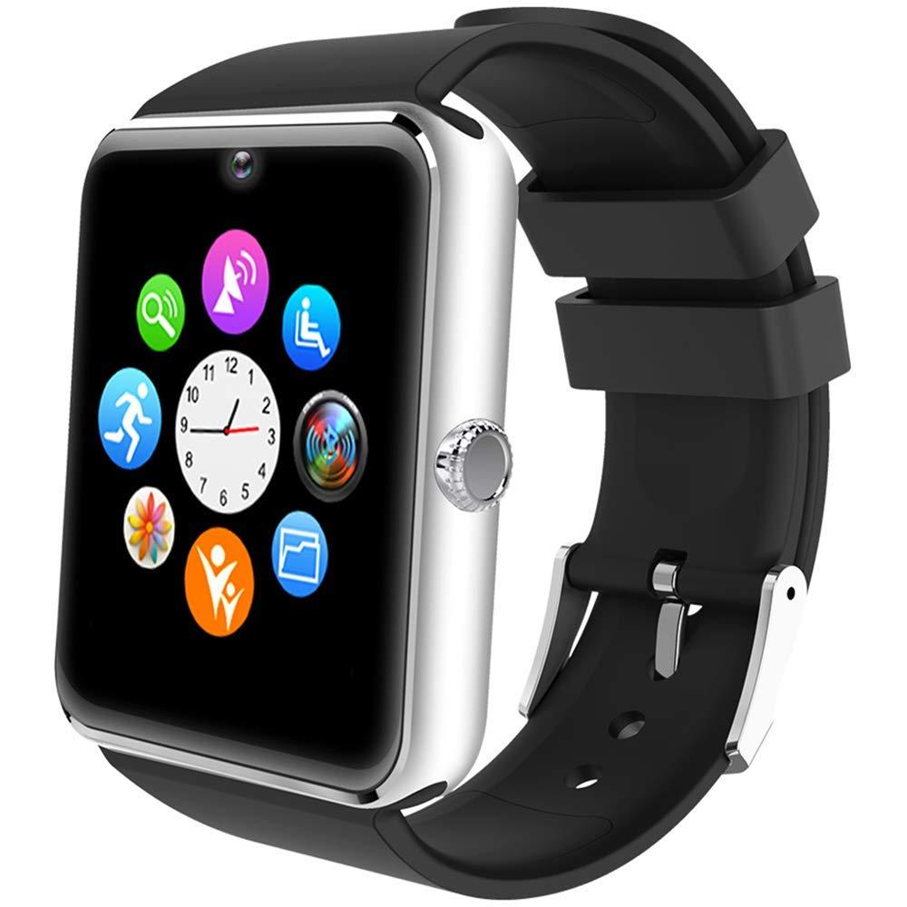 ALL SHOP - Reloj inteligente Android iOS con pantalla táctil, con ranura para notificaciones para iPhone, Samsung y… 1