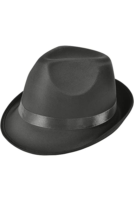 Adults Gangster Madness Black Fedora Hat Fancy Outfit Accessory