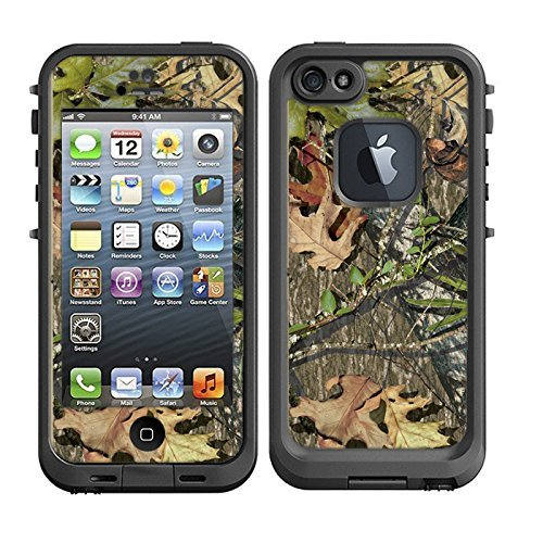 Skins Kit for Lifeproof iPhone 5 Case (skins/decals only) - Camo leaves and twigs cover