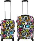 ABS Hartschalen Kofferset mit Motiv Farbe Traffic Größe 2er Set