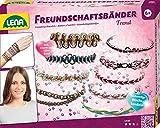 Lena 42692 - Bastelset Freundschaftsbänder knüpfen Trend mit 120 m Wachskordeln in 7 Farben