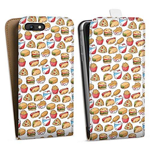 Apple iPhone X Silikon Hülle Case Schutzhülle Hamburger Pommes Pizza Downflip Tasche weiß