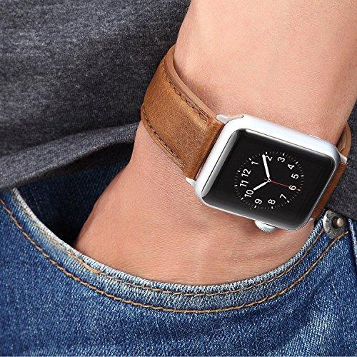 61Yjt 8szaL - [Amazon.de] Benuo Echtes Leder Armband für alle Apple Watches mit 42mm nur 10,79€ statt 17,99€