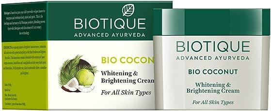 Biotique Bio Coconut Whitening & Brightening Cream For All Skin Types, 50G