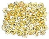 Goelx Bead caps gold finish for jewelry ...