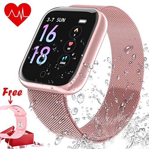 Deportes Smart Wristband Bracelet Impermeable - Reloj Inteligente con Corriendo Pulsómetro Cronómetro...