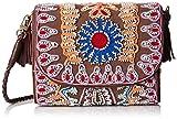 Antik Batik Damen Mallo Clutch Umhängetasche, Braun (Brown), 6x16x14 cm