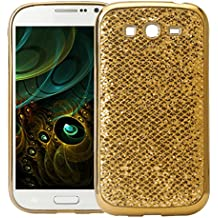 Galaxy Grand Neo I9060 Case, Galaxy Grand Neo I9082 Funda Silicona, Asnlove carcasas y funda Gel silicone brillo back case shell skin diseño bling brillante tapa trasera para Samsung Galaxy Grand Neo I9060 I9082, Oro
