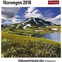 Norwegen - Kalender 2018: Sehnsuchtskalender, 53 Postkarten