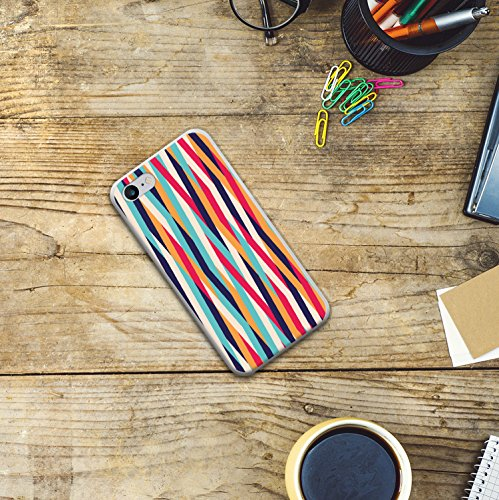 WoowCase Hülle Case für [ iPhone 7 ] Handy Cover Schutzhülle Herzen Housse Gel iPhone 7 Transparent D0123