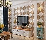 Yosot Einfach Im Nordischen Stil Tapete Braun Grau Rautenförmige Gitter Tapete Und Fliesen Gemusterten Tapeten Kaffee